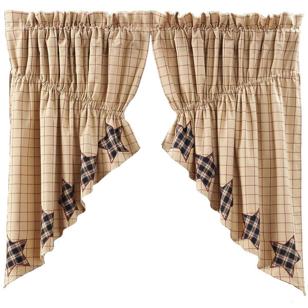 "Bingham Star Prairie Scalloped Swag Lined Set of Two 36""L x 36""W x 18"" Center Drop"