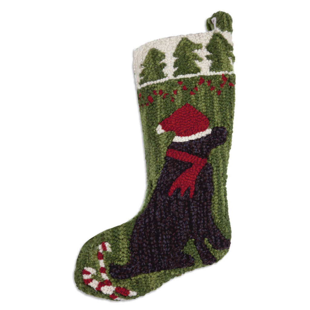 Black Lab Christmas Stocking