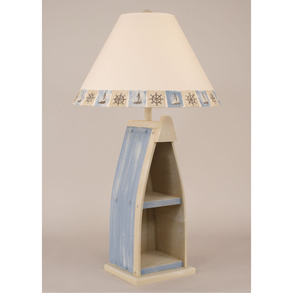 Boat Table Lamp - Wedgewood Blue