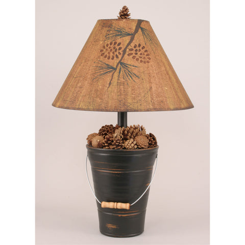 Bucket of Pine Cones Table Lamp