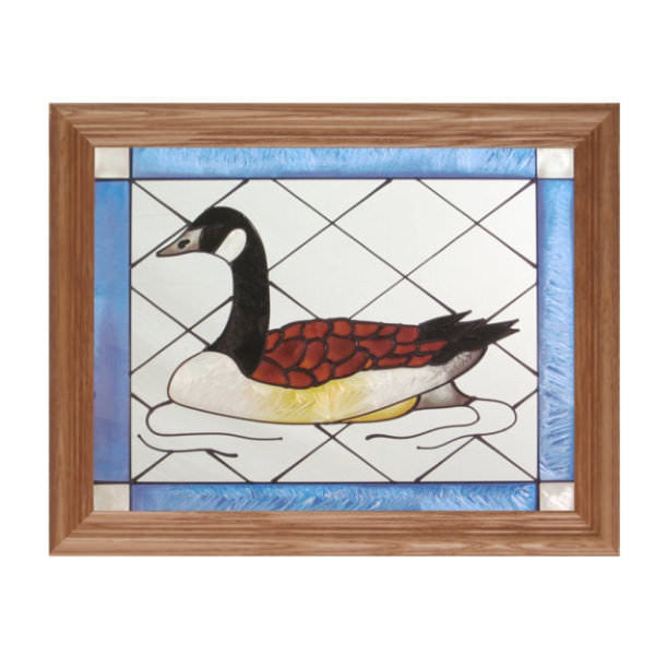 Canada Goose Stained Glass Framed Panel