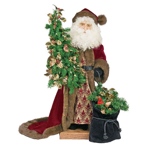 "Father Christmas - Christmas Past Santa Tree 29""H"