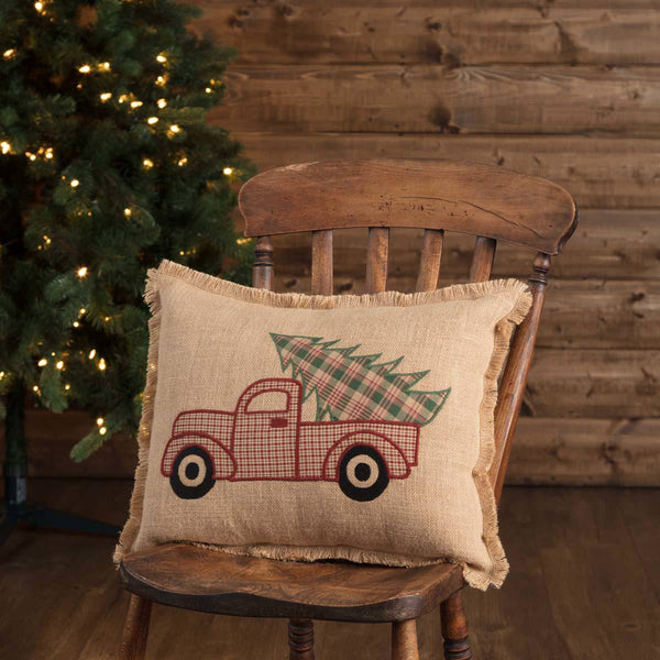 Clement Truck Christmas Tree Pillow