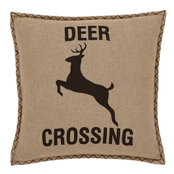 "Dawson Star 18"" x 18"" Deer Crossing Down Fill Pillow"