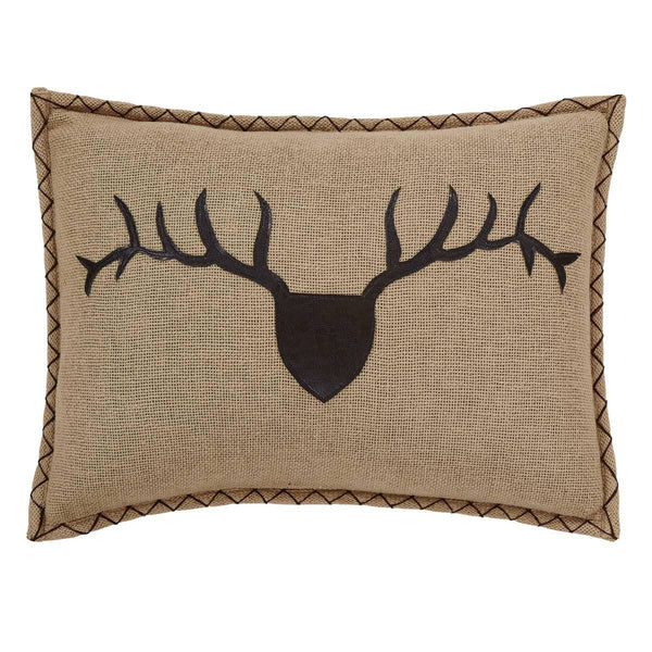 "Dawson Star 14"" x 18"" Trophy Head Applique Pillow"