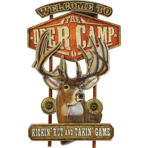 Deer Camp Collage Sign