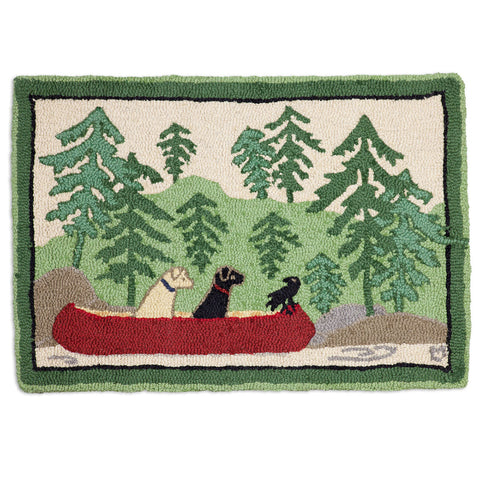 Dogs Day Out 2' x 3' Hooked Wool Rug