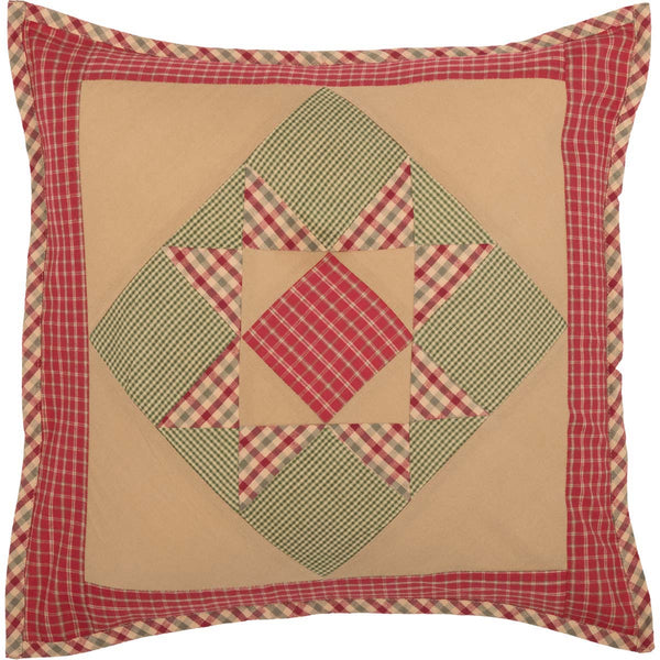 Dolly Star Quilt Patchwork Pillow Front