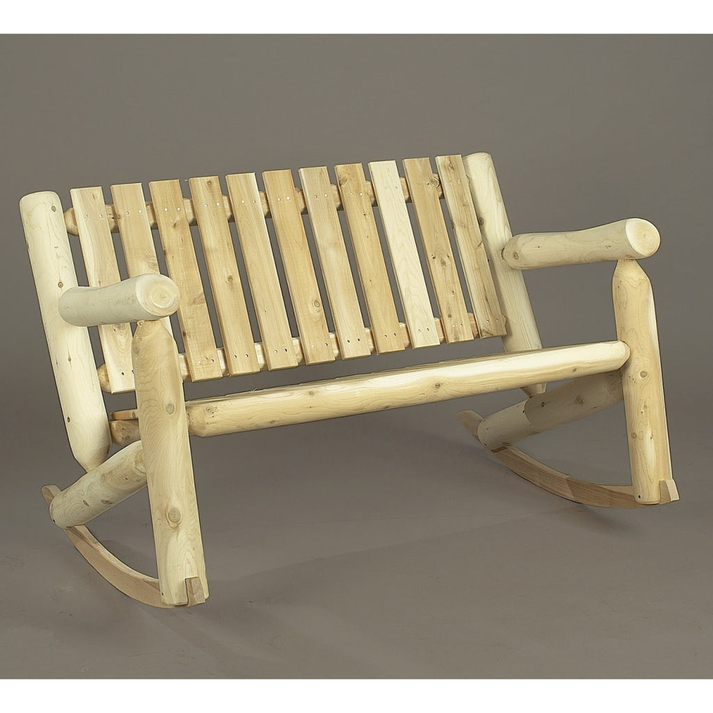 White Cedar Double Log Rocker