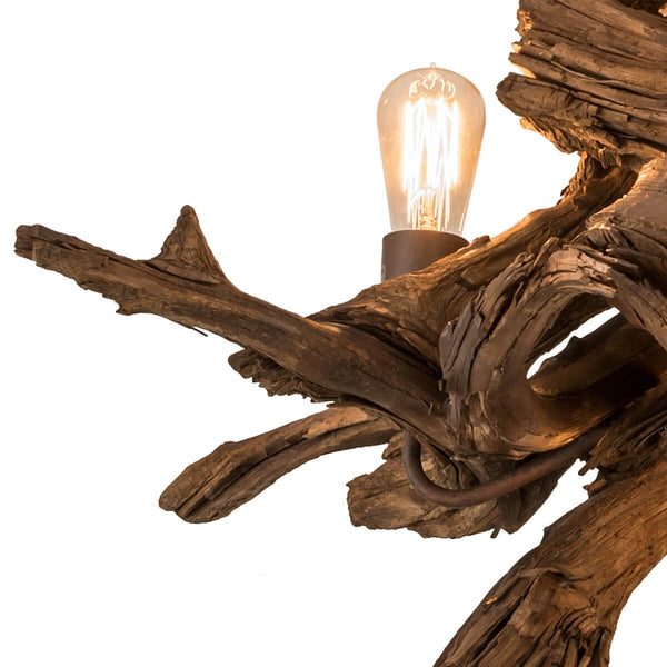 "Driftwood Chandelier 40""W Close-up 2"