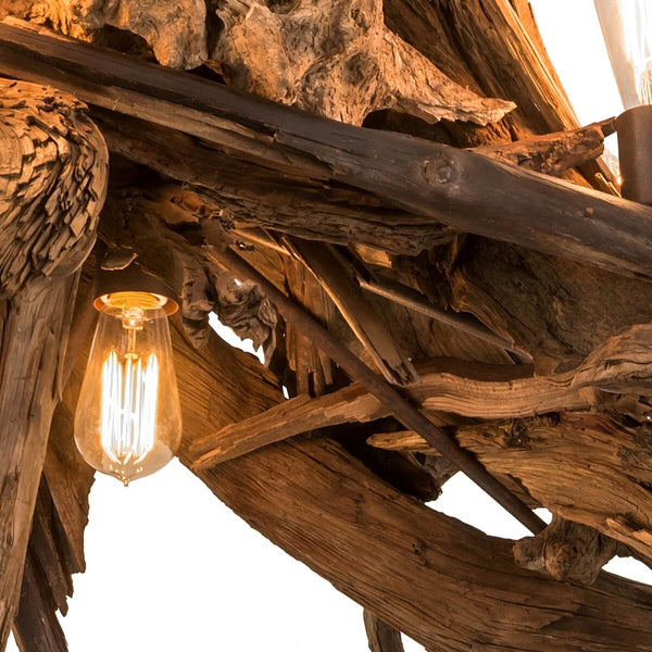 "Driftwood Chandelier 40""W Close-up 3"