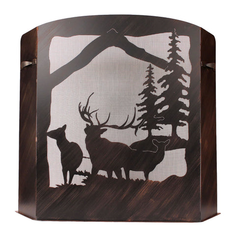 Elk Scene Fireplace Screen
