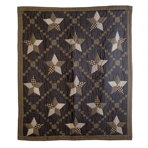 Farmhouse Star Quilted Throw 60 x 50