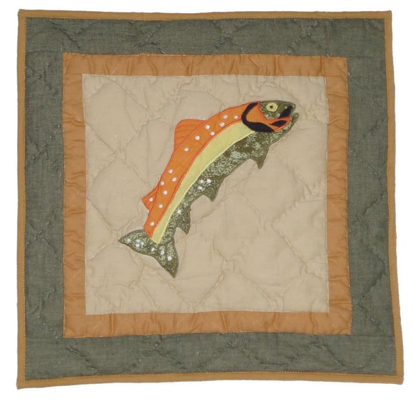 Fly Fishing Toss Pillow
