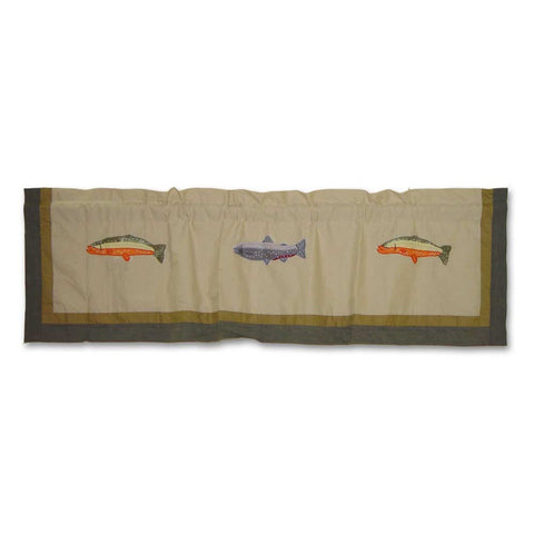 Fly Fishing Curtain Valance