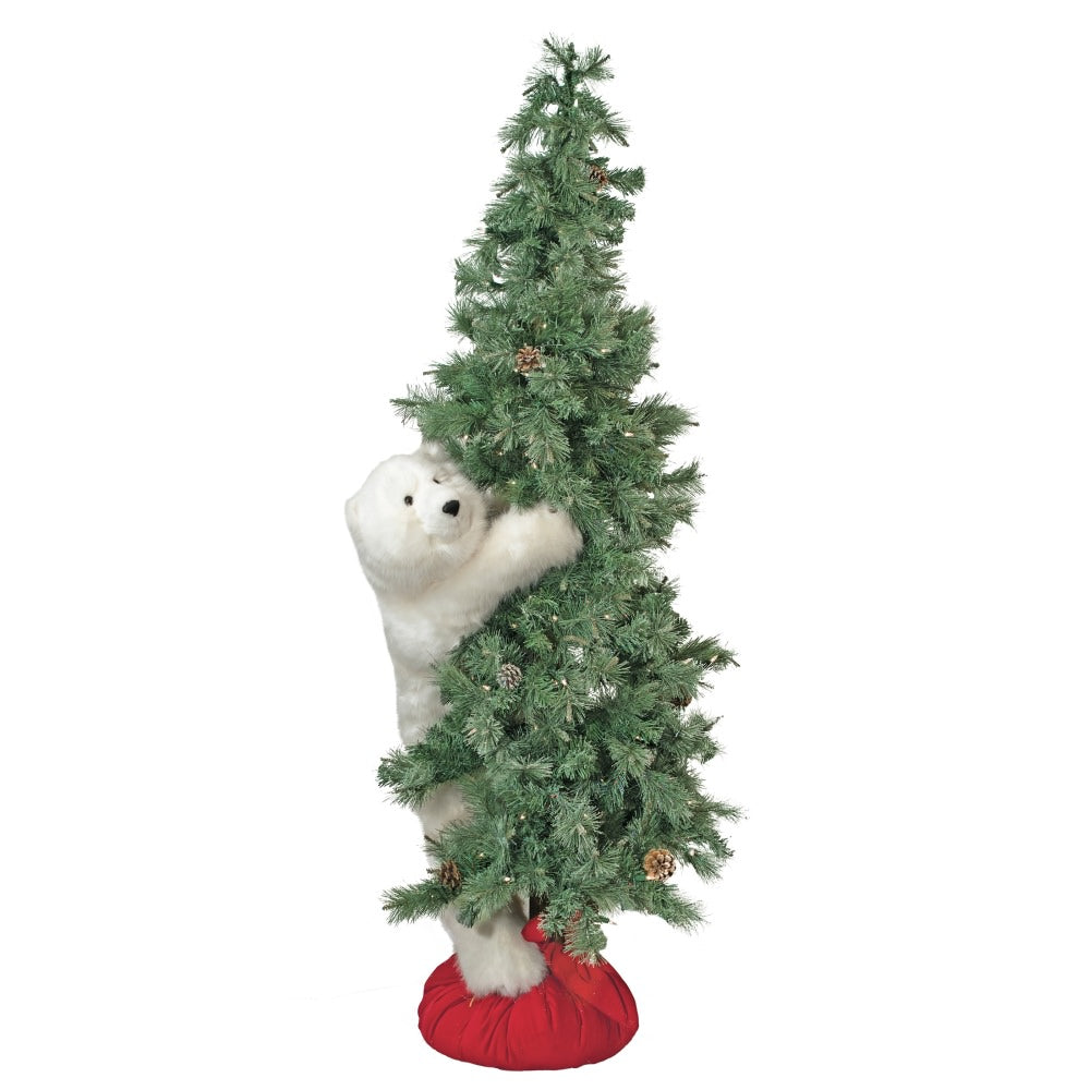 Frosted White Diamond Bear Tree 72""