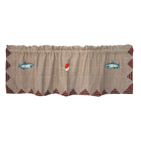 Gone Fishing Curtain Valance