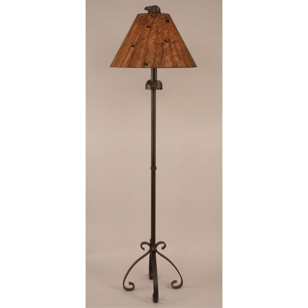 Iron S Leg Bear Floor Lamp