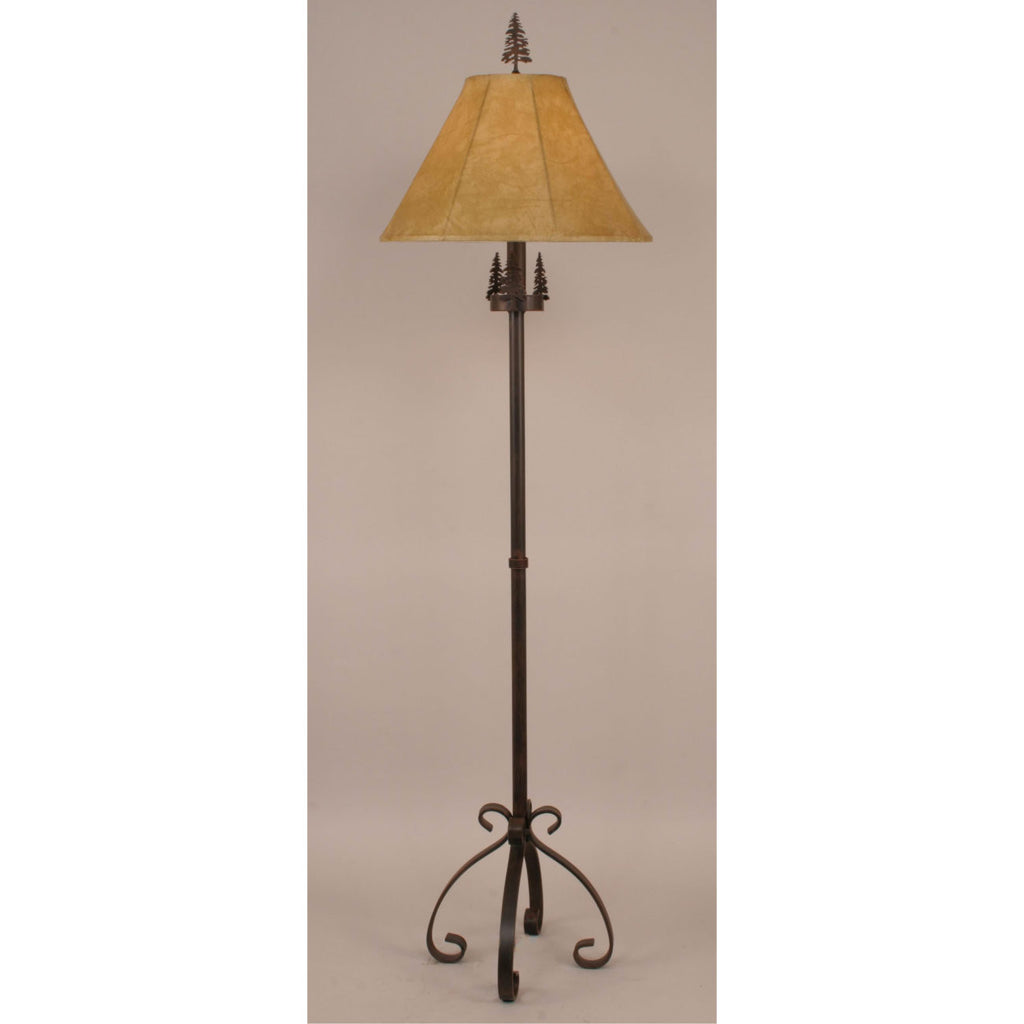 Iron S Leg Pine Tree Floor Lamp