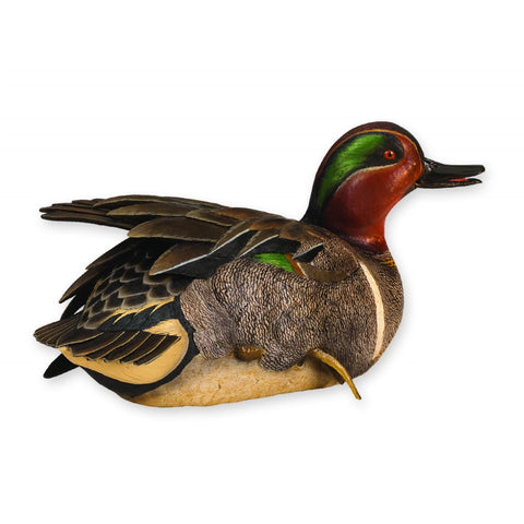 Life-Size Spring Plumage Green-Winged Teal Waterfowl Sculpture