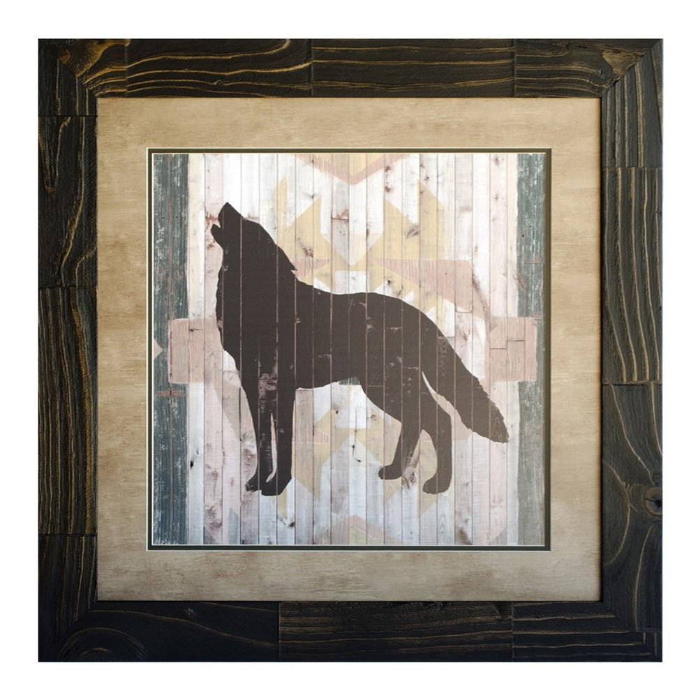 Lodge Animals Wolf Framed Print