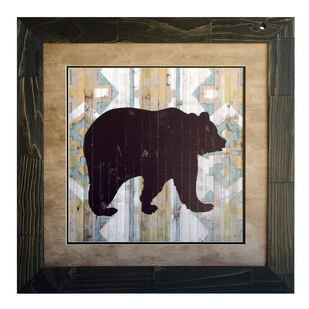 Lodge Animals Bear Framed Print