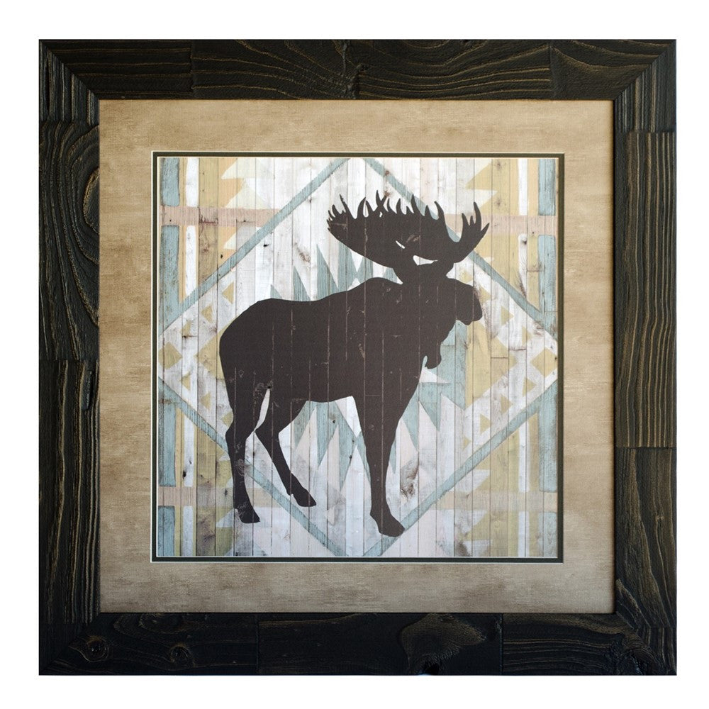 Lodge Animals Moose Framed Print