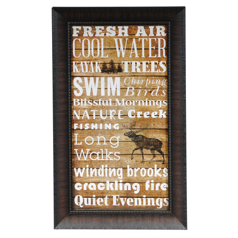 Lodge Type Framed Print Sign