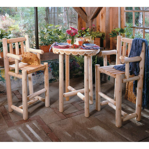 White Cedar 3 Piece Log Bistro Set
