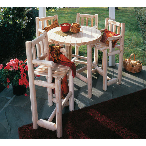 White Cedar 5 Piece Log Bistro Set