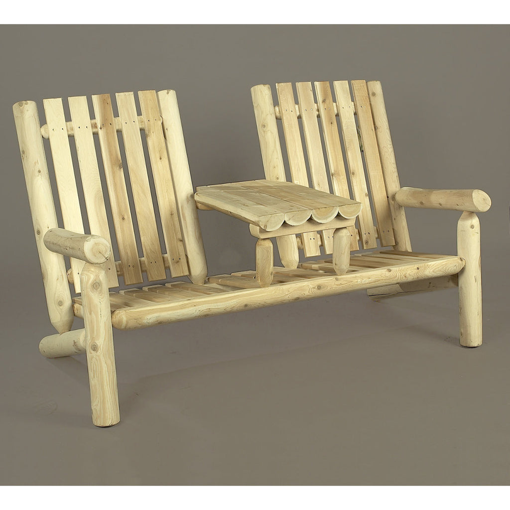 White Cedar Log Tea Settee