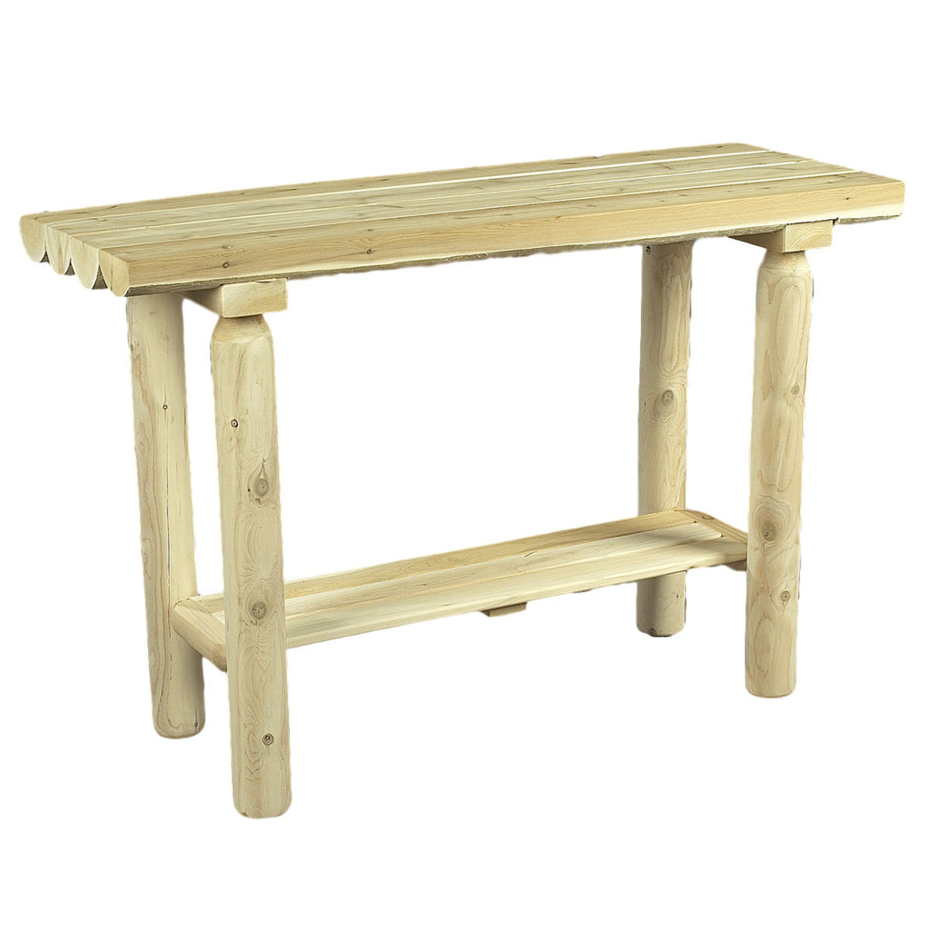 White Cedar Log Sofa/Console Table