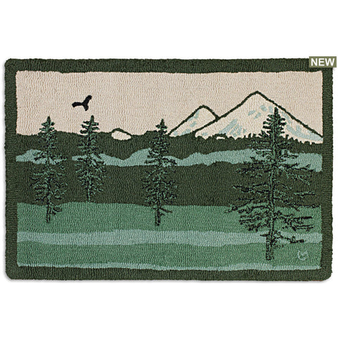 Magical Mountain 2' x 3' Hooked Wool Rug