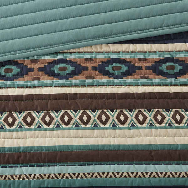 Malone Quilted Coverlet Set Close Up