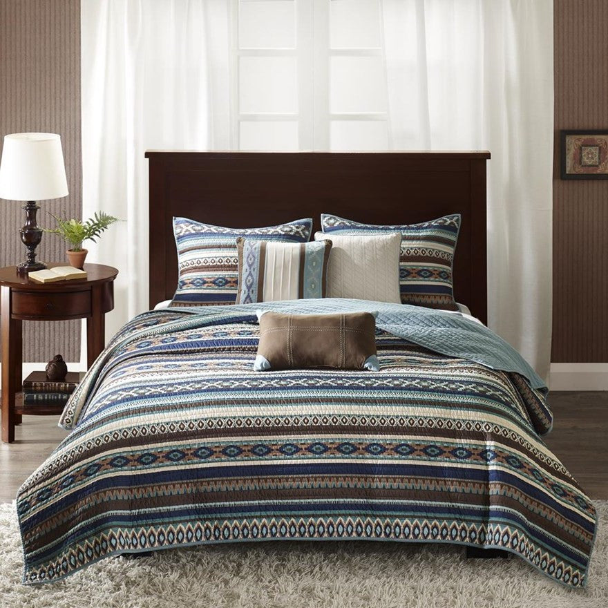 Malone Quilted Coverlet Set Front