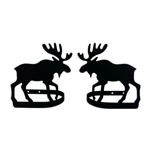 Moose Curtain Tie Backs Pair