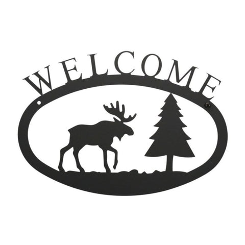 Wrought Iron Moose Welcome Sign