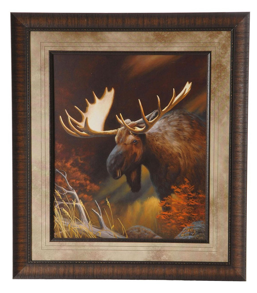 Moose Portrait Framed Print