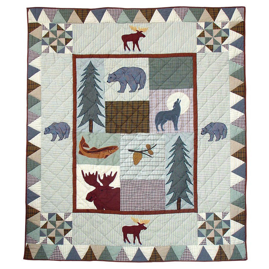 Mountain Whispers Quilted Throw