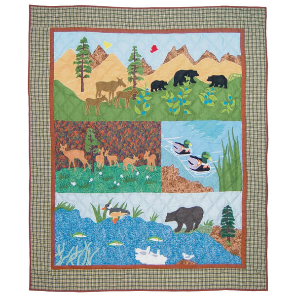 Natures Splendor Quilted Throw