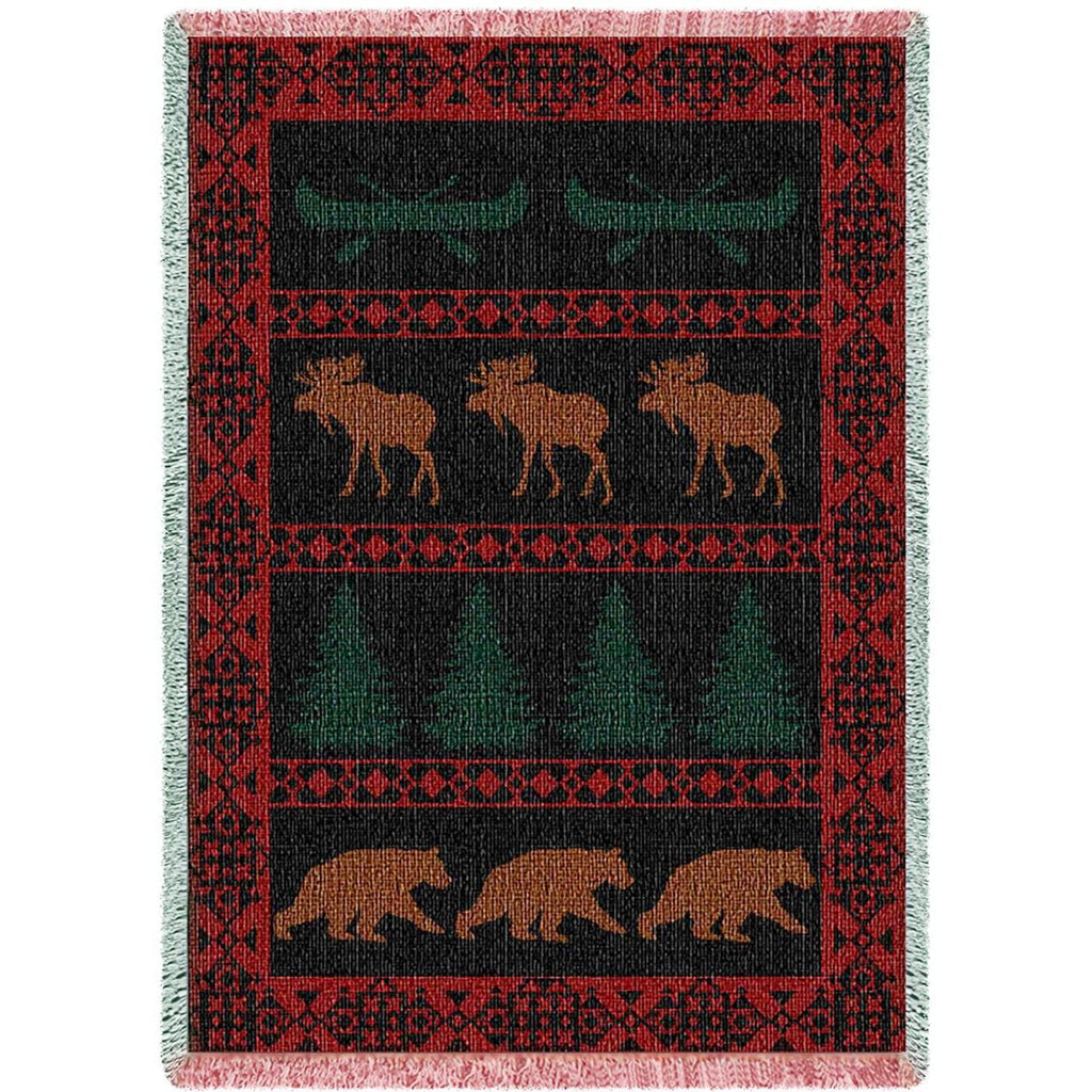North Country Tapestry Throw Blanket
