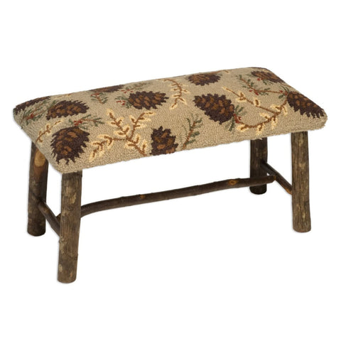 Northwood Pinecones Hickory Bench 32""