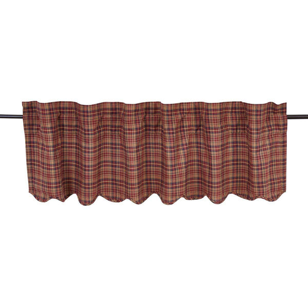 "Parker Valance Scalloped Lined 16""L x 60""W"