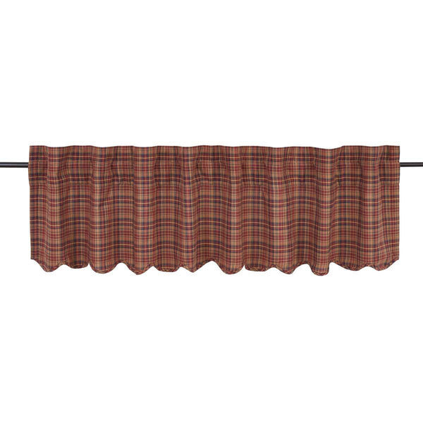 "Parker Valance Scalloped Lined 16""L x 72""W"