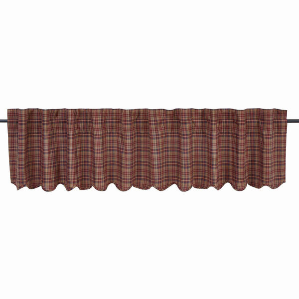 "Parker Valance Scalloped Lined 16""L x 90""W"