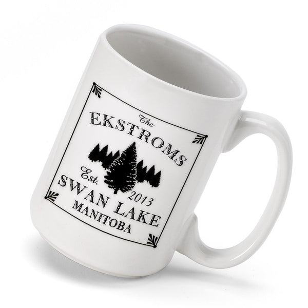 Personalized Cabin Coffee Mug - Spruce