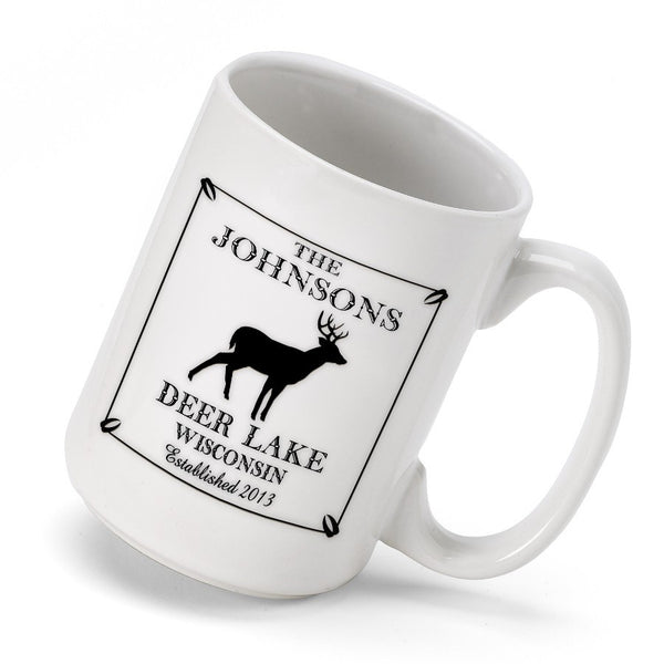 Personalized Cabin Coffee Mug - Stag