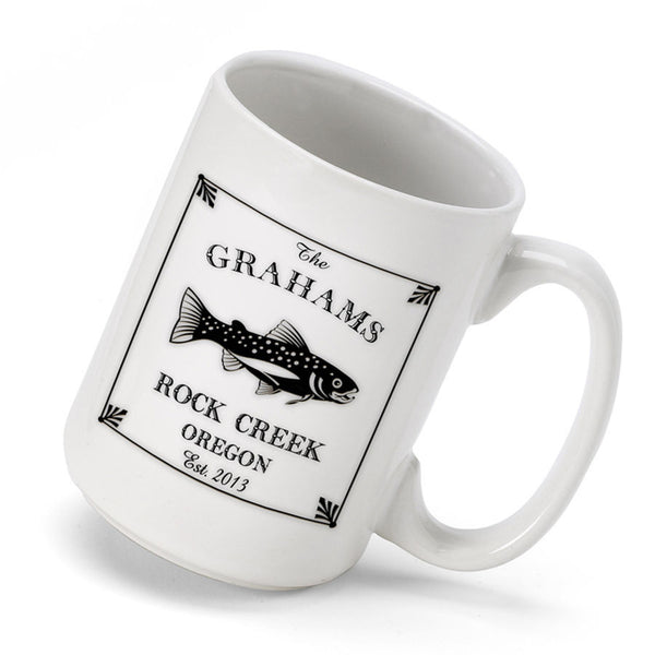 Personalized Cabin Coffee Mug - Trout