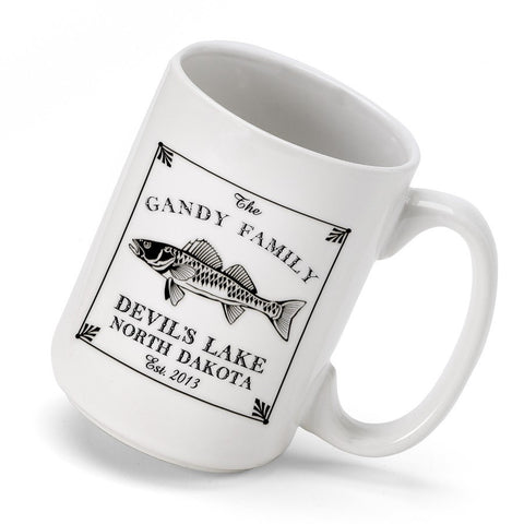 Personalized Cabin Coffee Mug - Walleye