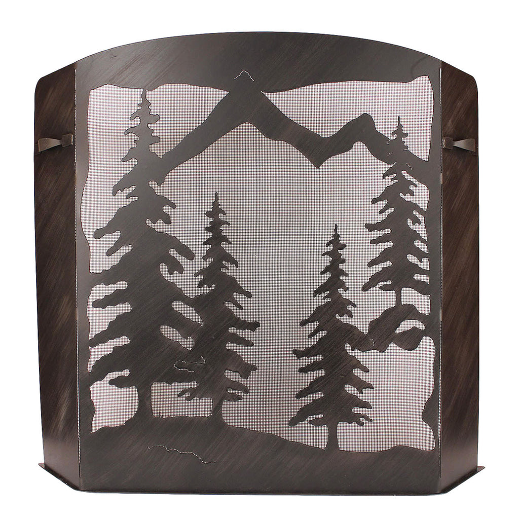 Pine Tree Scene Fireplace Screen